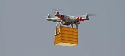 Leverer bildeler med drone