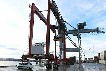 Nye kraner på plass i Oslo Havn