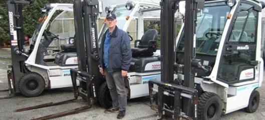 Leverte tre trucker til planteskole