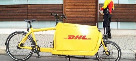 DHL tester sykkelbud