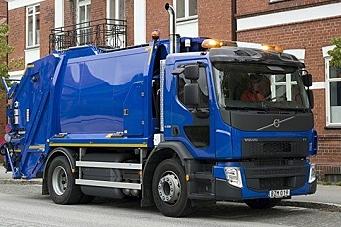 Gassdrevet lastebil fra Volvo