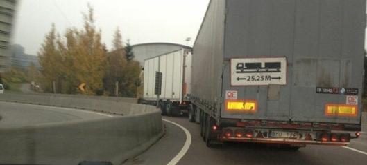 - Bare tungtransporten ødelegger veien