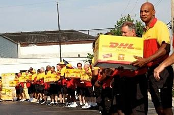 DHL med pizza-rekord