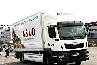 Askos nye lastebil kjører gratis i bommen