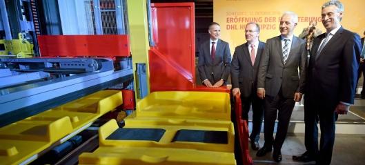 150.000 pakker i timen hos DHL i Leipzig