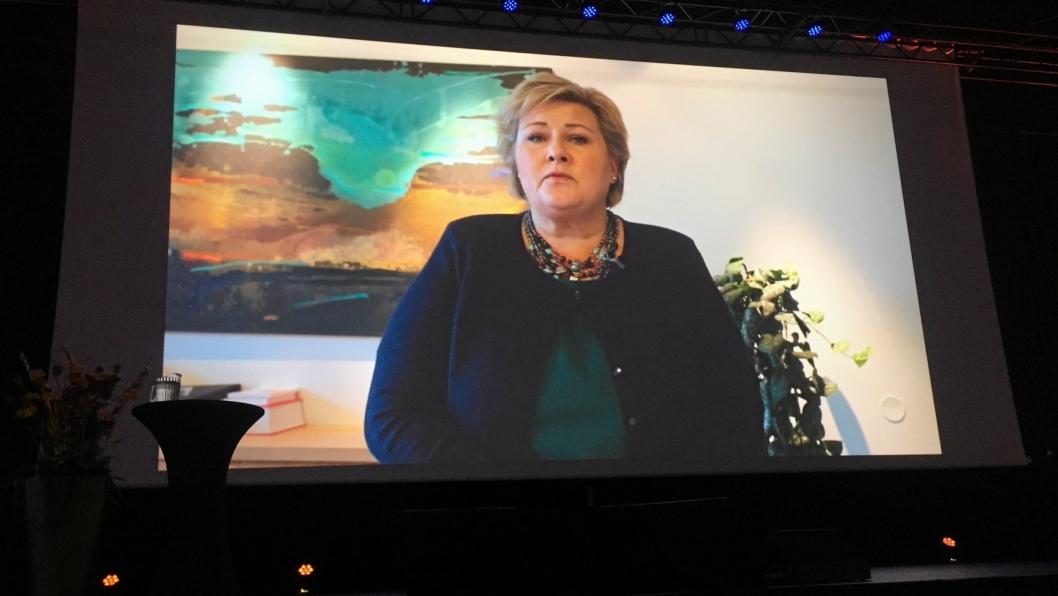 Transport og Logistikk 2016 åpning. Erna Solberg.