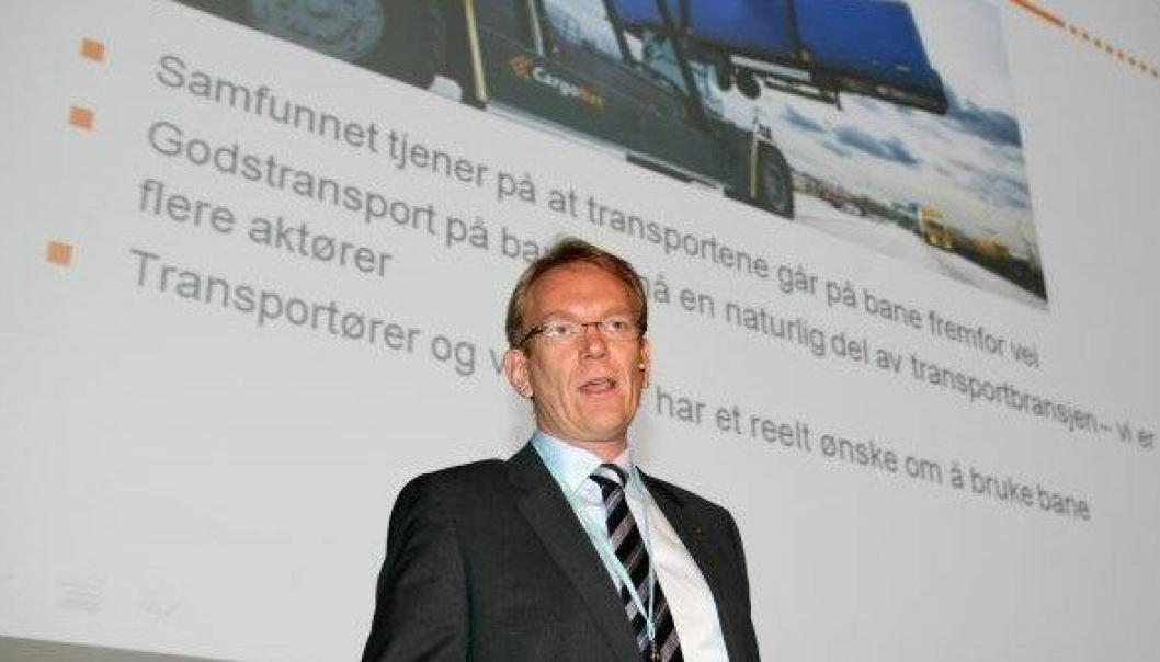 - Streiken innebærer en vanskelig situasjon både for oss og våre kunder, sier CargoNets Arne Fosen.Foto: Per Dagfinn Wolden