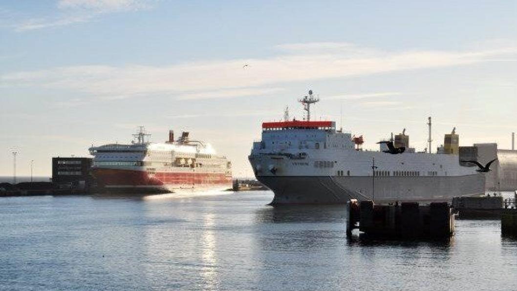 CLdN begynner fra begynnelsen av november 2016 Πseile til Hirtshals. Godset som skal til eller fra Norge derfra skal Fjordline befrakte med sine skip.Foto: Espen Braata