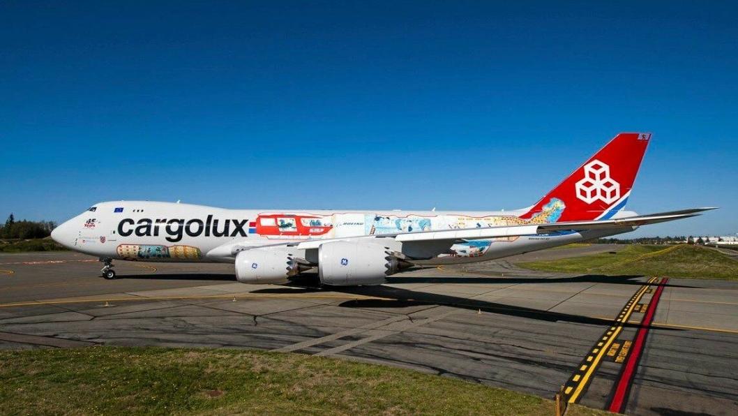 Cargolux kommer til Oslo lufthavn med sin Boeing 747-8F.