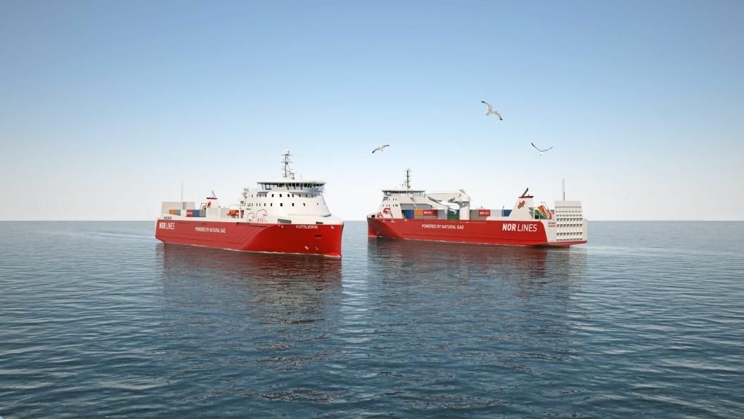 Miljøskipene blir fortsatt i DSDs eie selv om Eimskip nå kjøper Nor Lines.