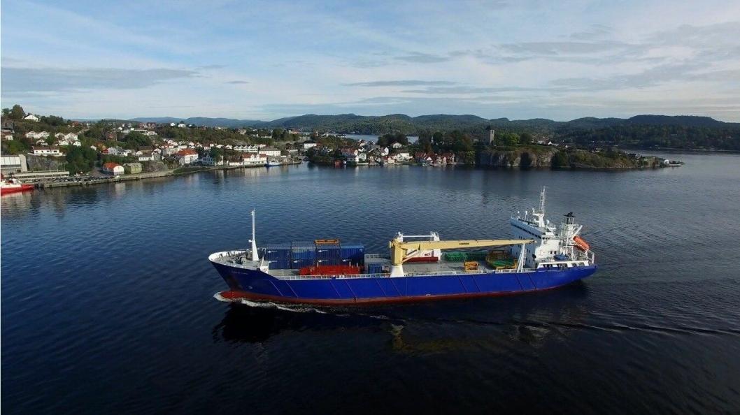 Carten Elina er et av skipene som skal gå mellom Polen og Norge. Foto: Scan Shipping