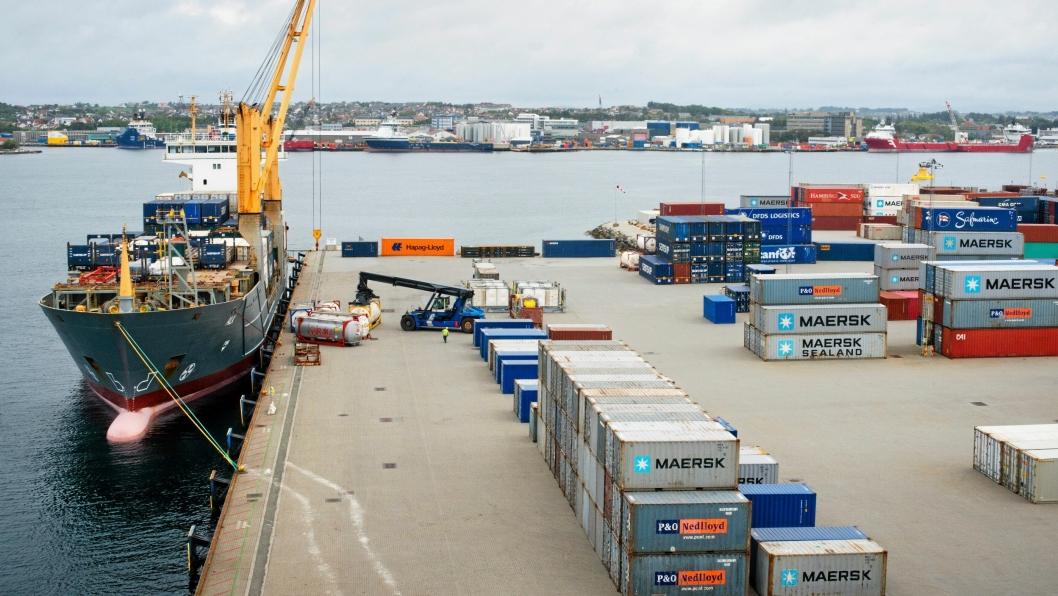 Containerområdet i Risavika ble tatt i bruk i 2009.