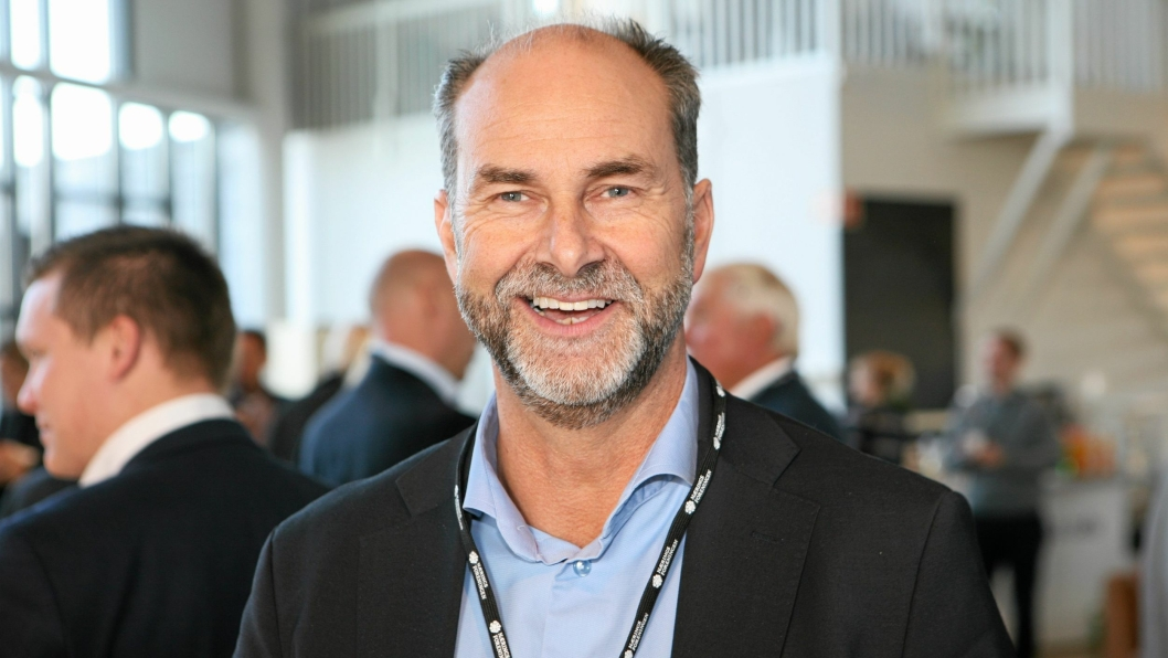 Adm. direktør i DHL Express og styreleder i NHO Logistikk og Transport, Terje Aarbog, tok oss med inn i en ny robotverden på Logistikkdagen 2016 i Sandnes.Foto: Per Dagfinn Wolden