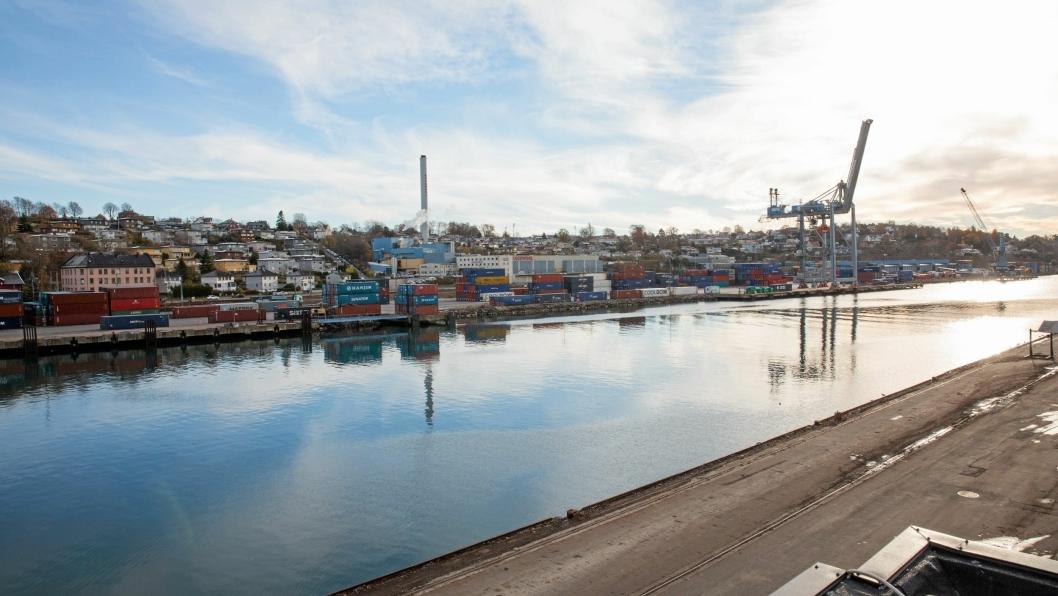 Incentivordningen som nå er godkjent ønsker å gjøre det travlere i norske havner, som her i Moss.