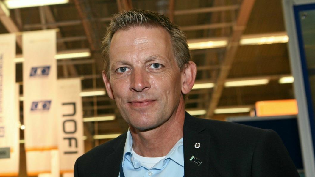 Carsten Steffensen i Blue Water Shipping forteller om utvidelse av trafikkene. Foto: Per Dagfinn Wolden