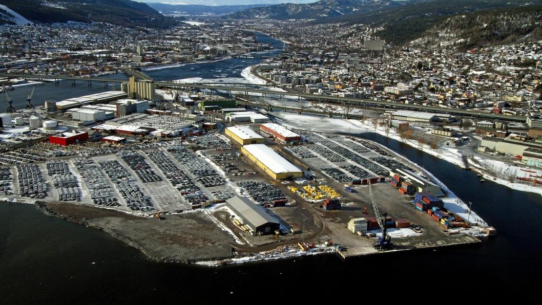 _Drammen Havn nærmer seg et komplett multimodalt knutepunkt.