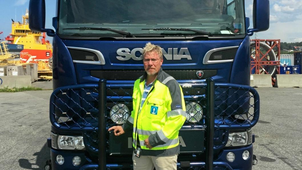 Dagens aksjonsgeneral, Ove Tepstad, frykter for en allerede presset transport- og logistikknæring.