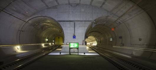260 godstog daglig gjennom verdens lengste tunnel
