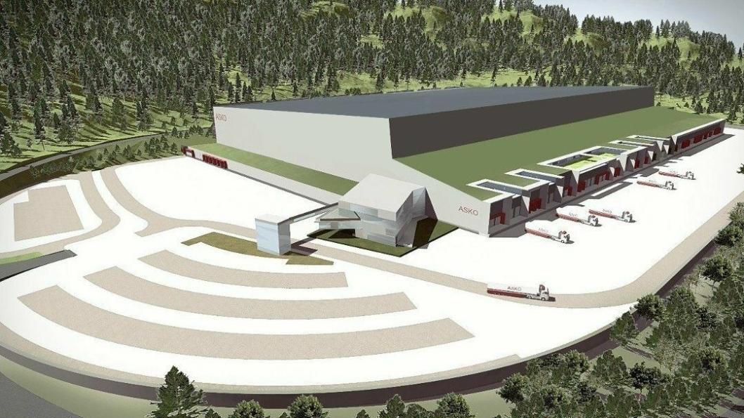 ASKO og Norgesgruppens planlagte anlegg i Hanekleiva i Sande kommune skal i første omgang være i størrelsesordnen 20.000-25.000 kvadratmeter.