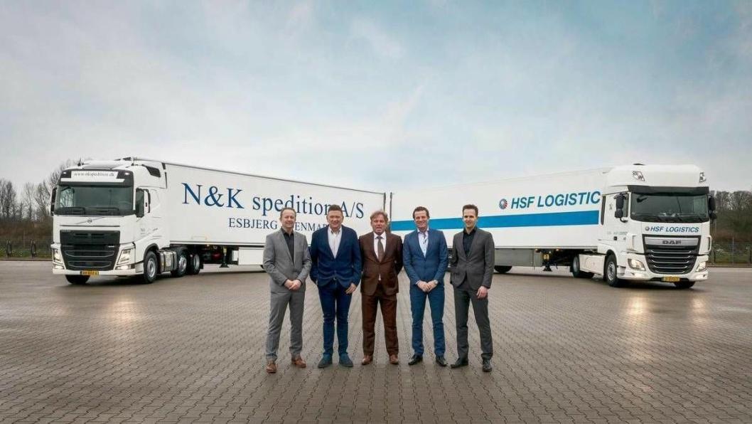 Fra venstre: Frank Kremer, Per B. Jensen, Simons Frederiks, Martin Gade Gregersen og Dennis Nijmeijer.