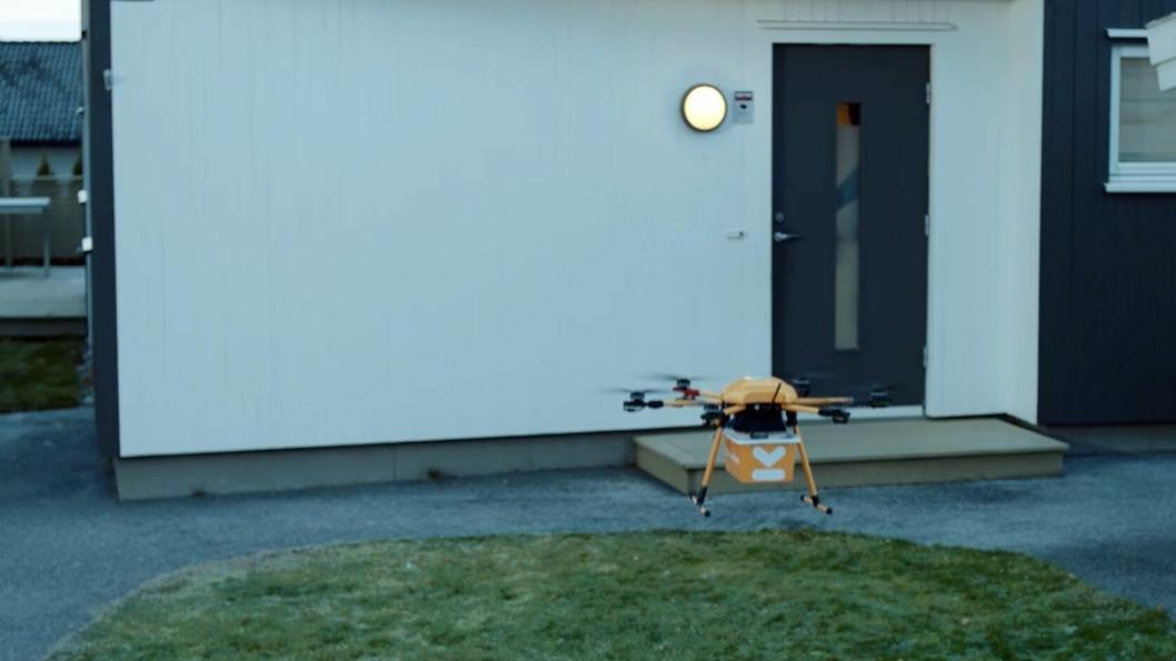 I fremtiden kan kanskje droner bli brukt til å levere matvarer rett på døra til folk. Foto: Kolonial.no