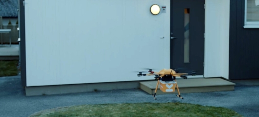 Kolonial.no leverte mat med drone
