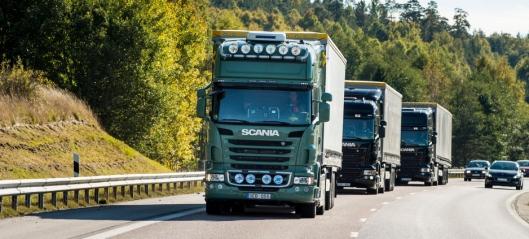 Scania med selvkjørende «platoon»