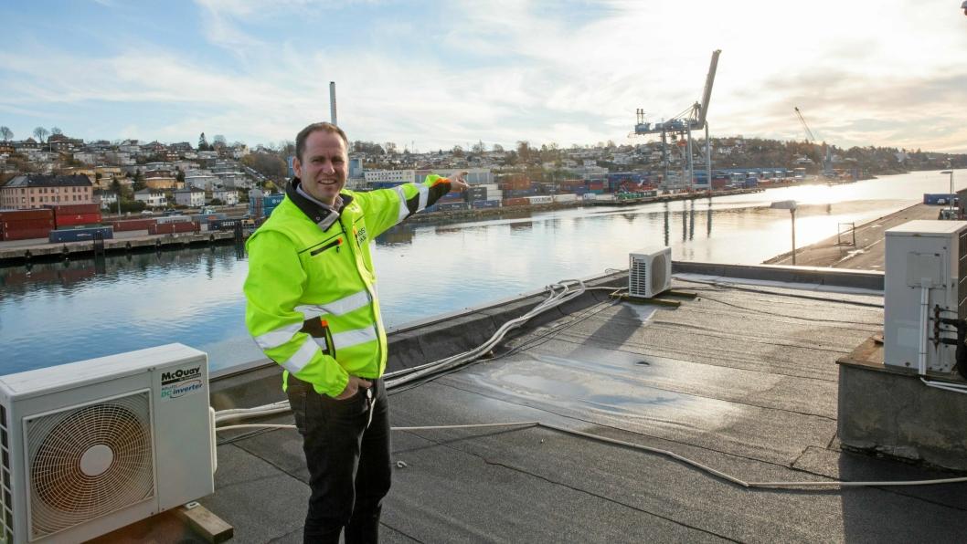 Havnesjef i Moss Havn, Øystein Høsteland Sundby, har store planer for utviklingen av havnedrift i mosseregionen.