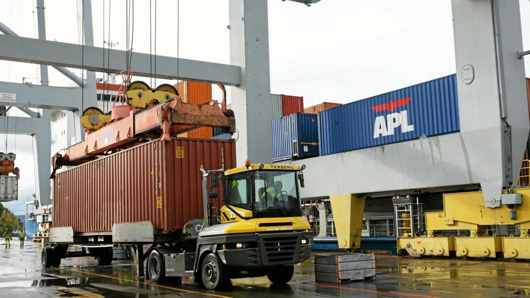 60 losse- og lastearbeidere tappet streikekassa for nærmere 60 mill. kroner.Foto: Per Dagfinn Wolden