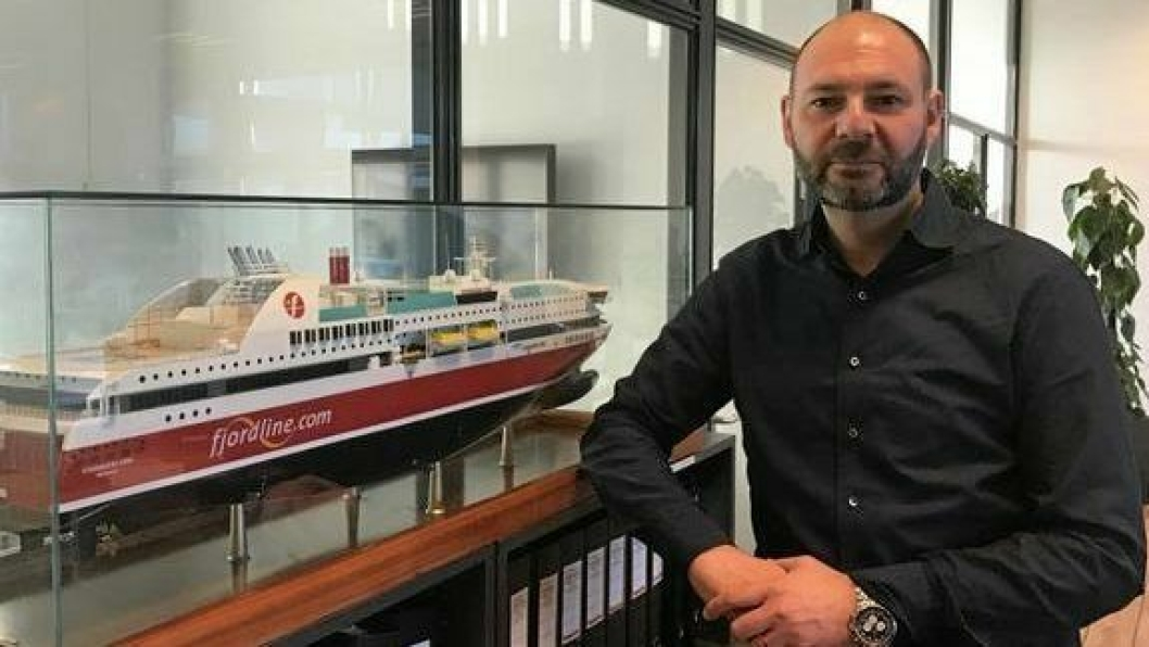 Claus Riis er ansatt som fraktdirektør i Fjord Line.Foto: Fjord Line