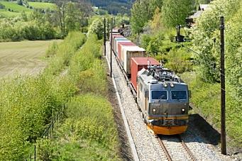 Oppgang for container på tog