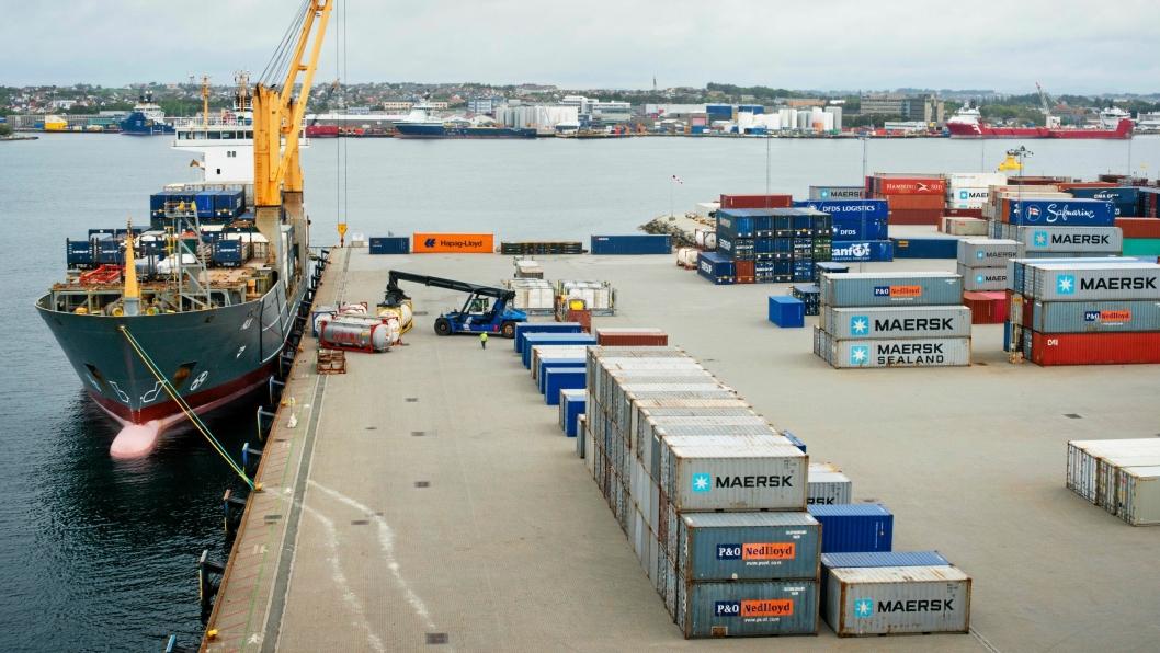 Risavika Havn. Westport. Havn. Container.