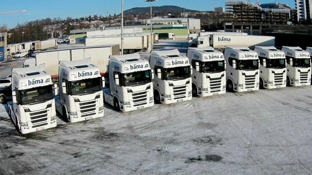Bama Logistikk fikk overrakt sine 10 nye Scania-er med 500 hestekrefters motor.