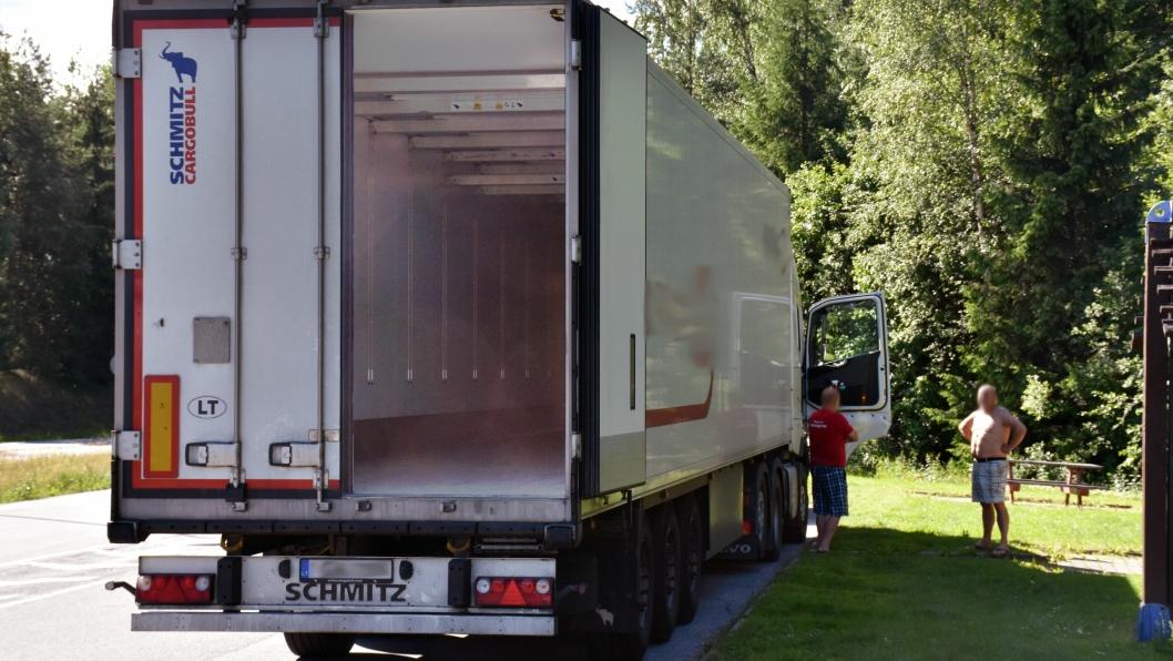 Fyllningsgraden i lastebiler som kryser Norges grense har falt de siste årene.
