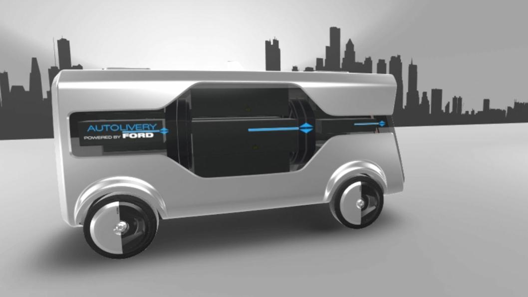 Slik ser Ford for seg sitt Autolivery-konsept.