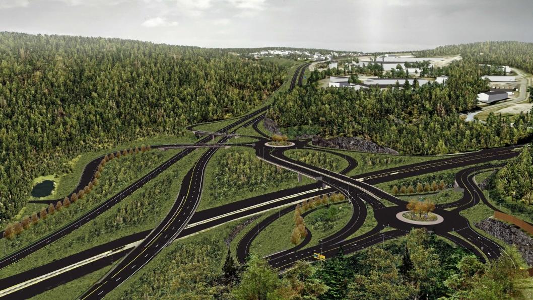 Nytt Vinterbrokryss inngår i prosjektet til 7,2 milliarder kroner.Ill: Statens vegvesen