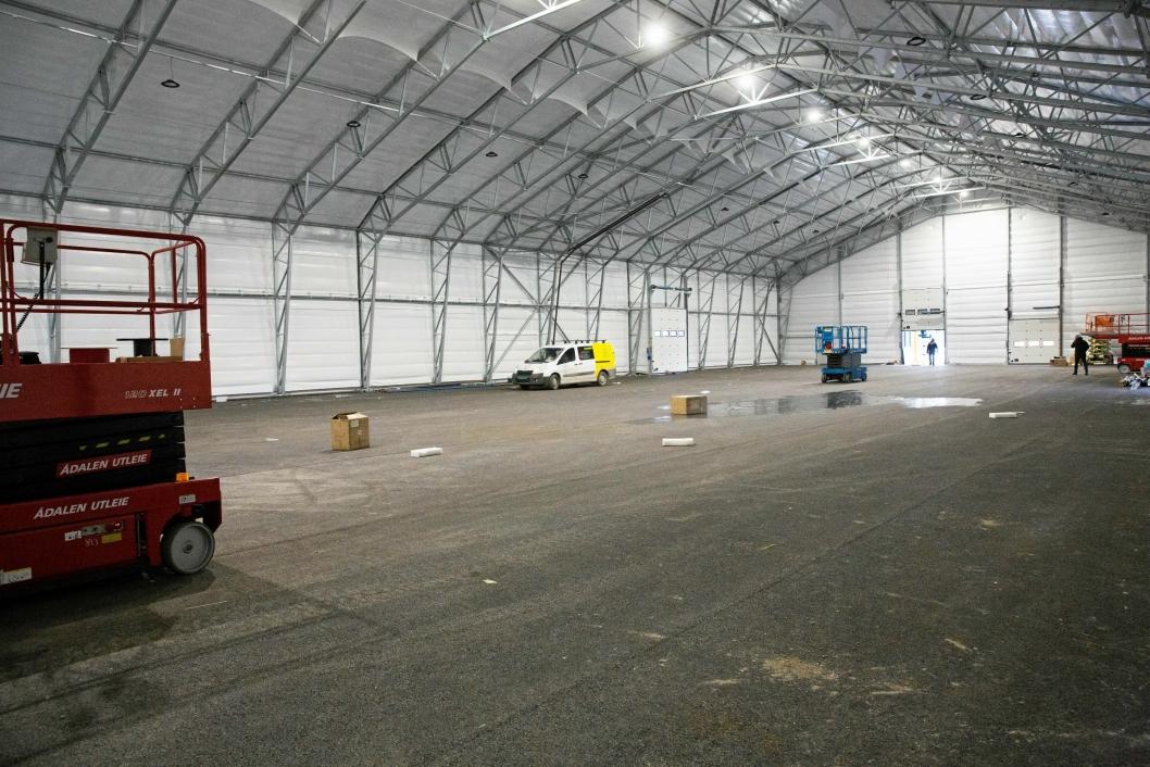 ROMSLIG: Konstruksjonen av Rubb-hallene er enkel og fleksibel, og kan fylles med så godt som hva som helst.