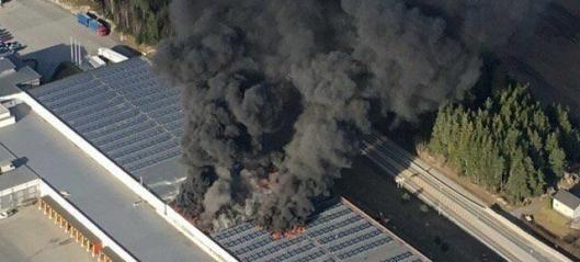 Asko-brannen har blusset opp igjen