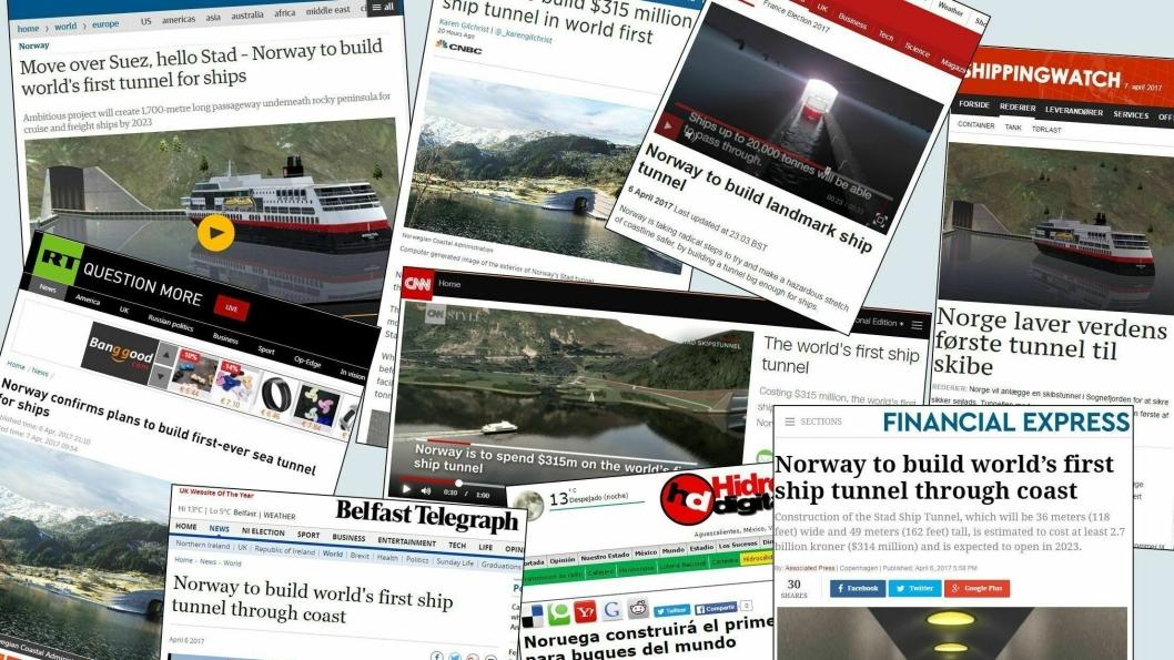 Et utvalg av utenlandske mediers omtale av Stad Skipstunnel.