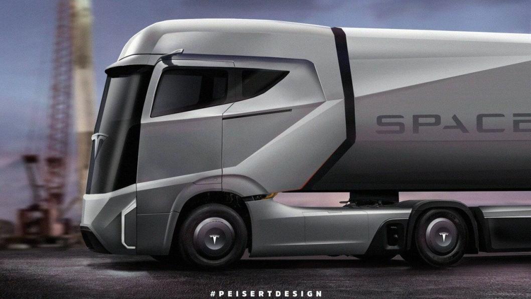 Det finnes ingen offisielle tegninger av Tesla Semi og mange nettsteder bruker feilaktig bilde av konkurrenten Nikola One. Det er imidlertid enkelte som har prøvd å forestille seg hvordan den kommer til å se ut, her et av forslagene laget av Peisert Design.