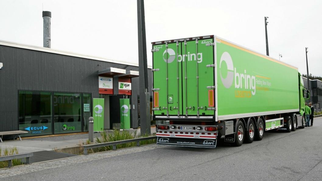 Både Bring og andre transportselskaper må være tolmodige i forhold til ny hvile- og oppstillingsplass på nye Svinesund Transportsenter. Foto: Per Dagfinn Wolden