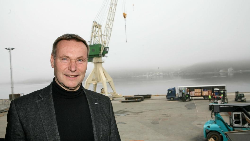 – Vi skal fortsatt være ved kaikanten selv om vi etablerer oss på Forus Næringspark, sier havnesjef Thor Thingbø i Sandnes. Foto: Per Dagfinn Wolden