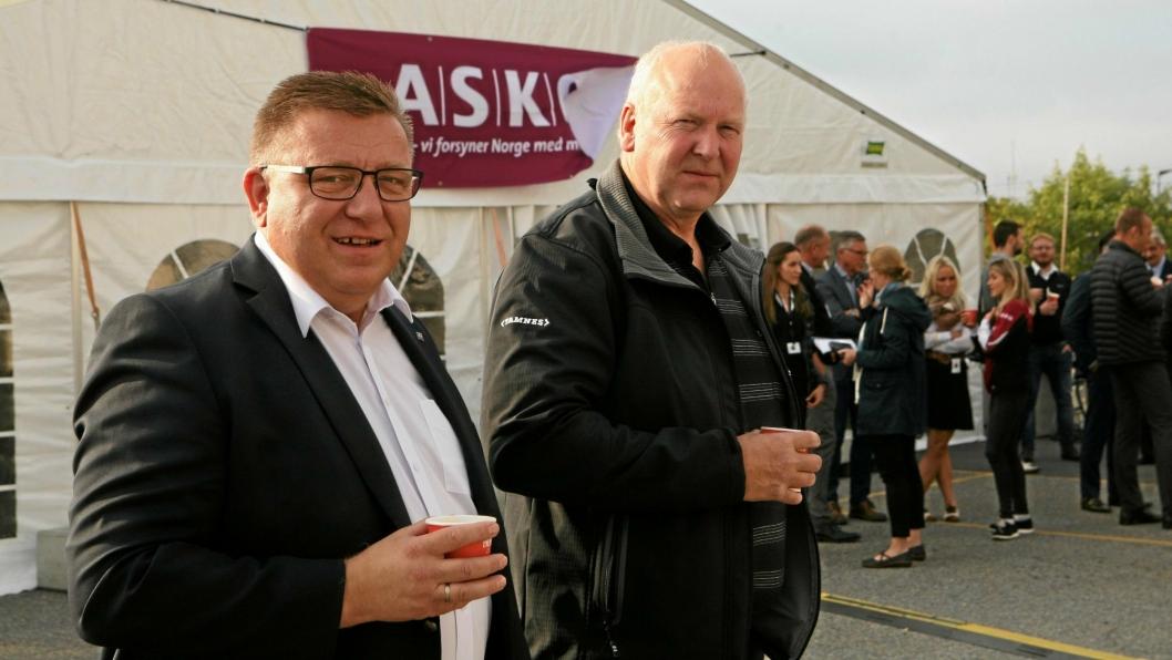 Adm. direktør Geir A. Mo (t.v.) og forbundsleder Tore Velten i Norges Lastebileier-Forbund (NLF), stiller begge på TS-Forums 30-årsjubileum.Foto: Per Dagfinn Wolden