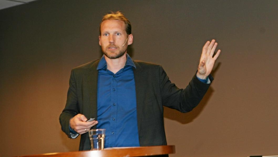 – Hydrogen er tingen understreket Martin Kirkengen, avdelingsleder ved Institutt for energiteknikk (IFE), på Zeros tungtransportforum nylig.  Foto: Per Dagfinn Wolden