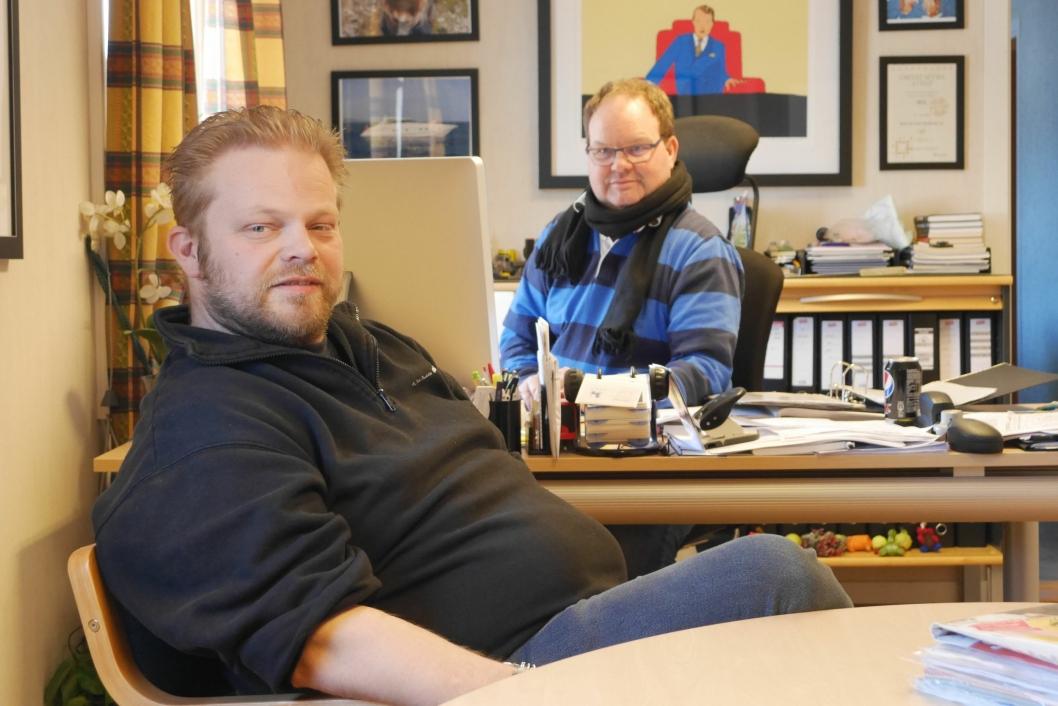 INNOM: Bjørn Didrik Prytz svipper gjerne innom kontoret hvis dagens rute er lagt opp slik.