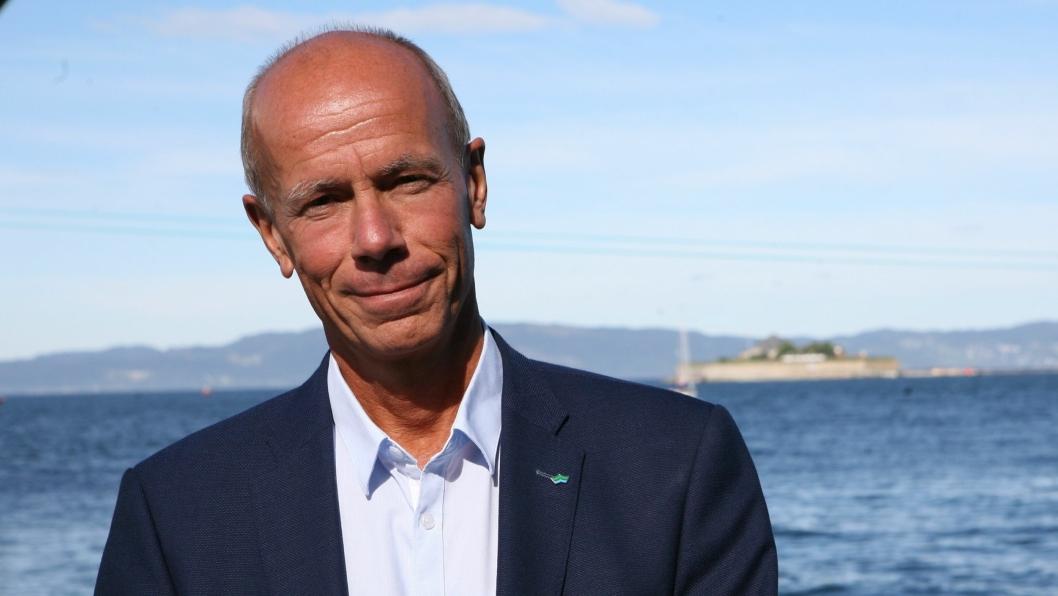 Einar Hjorthol sier takk for seg. Foto: Per Dagfinn Wolden