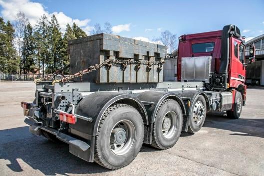 Det var under den finske lastebilmessen Kuljetus 2017 Sisu viste prototypen på den nye drivlinjen. Foto: Sisu