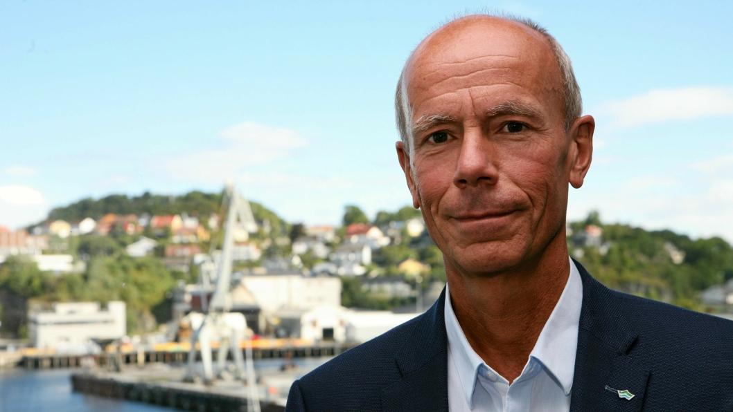 - Jeg er skuffet over at jeg ikke har klart å etablere et bedre samarbeid med styreleder, sa Einar Hjorthol da han meddelte sin avskjed på allmøtet i Trondheim Havn.Foto: Per Dagfinn Wolden
