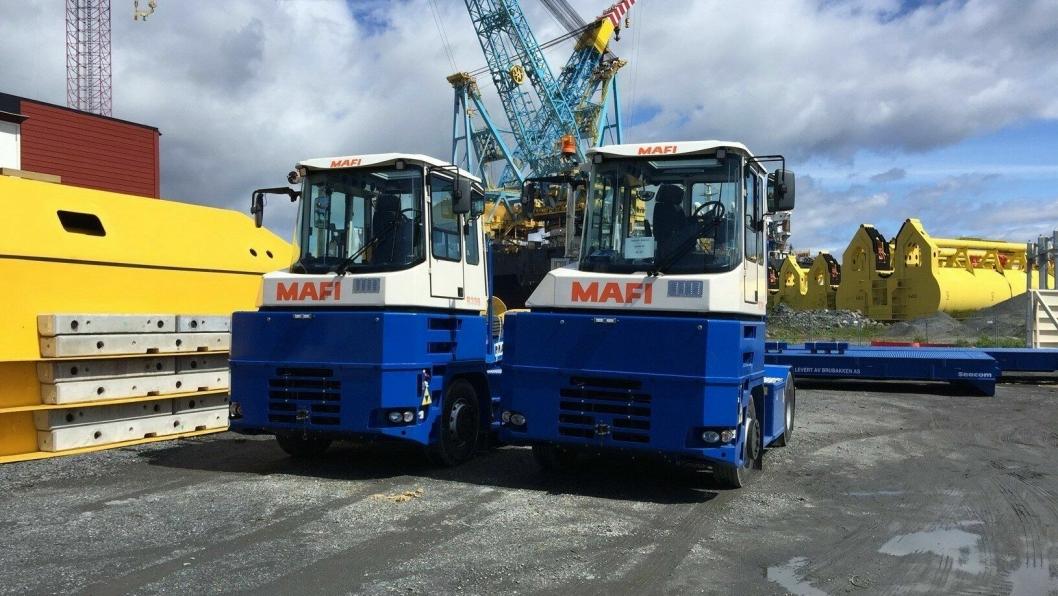 Brubakken leverer MAFI Traktorer og Seacom rulleflak til Norsea AS.