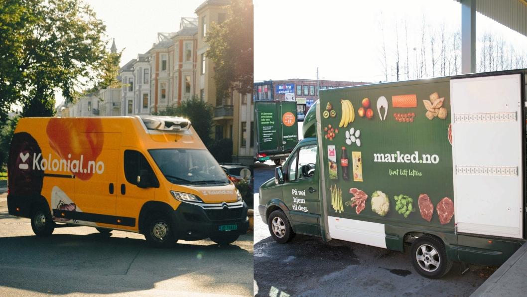 Kolonial.no og marked.no kjemper om både matvarekunder og heder og ære.